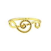 AppleLatte Gold Plated Music Note Midi Wrap Ring
