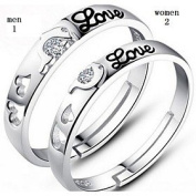 FLOW ZIG Classic Dolphins love Sterling Silver Ring Couple Rings Wedding/Party/Daily/Casual 1pc