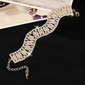 FLOW ZIG XXI Women's The Newest Fashion Casual Gold Plated/Rhinestone Chain Bangles Bracelet 1pc