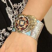 FLOW ZIG Fashion Party Silver Open Cuff Bracelet