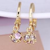 FLOW ZIG Women's Diamond Pendant Earrings