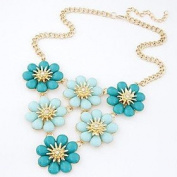 FLOW ZIG Women's New Colourful Sunflower Necklace