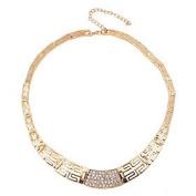 FLOW ZIG Fashion Diamond Plated Necklace