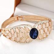 FLOW ZIG European Style Fashion Metal Temperament Exaggerated Luxury Opal Bracelet