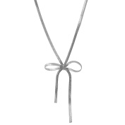 Spinningdaisy Tie the Knot Ribbon Statement Necklace