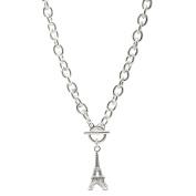 Spinningdaisy CrystalParis Eiffel Tower Toggle Necklace