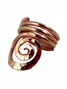 Elaments Design Solid Copper Ring Solo Spiral Design Size 8 Hand Hammered