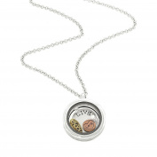 Floating Charms Living Locket Words Live Laugh Love Fashion Necklace Auralee & Company