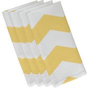 E By Design N4GN38Lemon-19 Geometric Decorative Napkin, 48cm by 48cm , Lemon