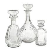 IMAX 89465-3 Sable Decanter with Crown Stopper, Set of 3