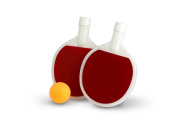 Barbuzzo Ping Pong Flask, Red/White