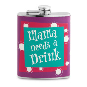 Epic Products 13cm Mama Needs a Drink Flask, 210ml