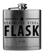 Kole Imports OD319 Stainless Steel Hip Flask, Multicolor