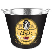 Boelter Brands Coors Retro Metal Bucket, 4.7ls, Grey