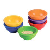 Oggi Melamine 6-Piece Pinch Bowl Set, Assorted Colours