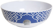 Galleyware Moroccan Shell Melamine Non-Skid Serving Bowl