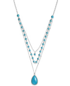 Charter Club Torquoise Triple Layer Necklace