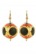 Dilan Jewels PURE Collection Black Colour Casual Wear Gold Plated Hoop Earrings For Women