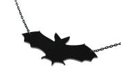 Large Acrylic Bat Necklace with 41cm Black Chain