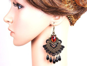 Vintage Gothic Lace Drop Dangle Long Earrings / AZERAL009-ABR