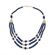 Pearlz Gallery Dyed Lapis Lazuli Gemstone 50cm Necklace for Women