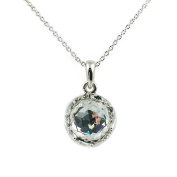 Fashion Jewellery - 18k White Gold Plated Round Crystal Necklace