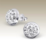 Round Earrings Studs , Sterling Silver 925 Post