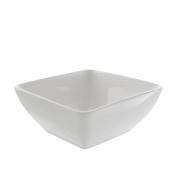 10 Strawberry Street WTR-7SQBWL4 Whittier Square Bowl, Set of 4, 18cm , White