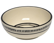Thompson & Elm M. Bagwell Colours Ceramic Soup/Cereal Bowls (Set of 4), White/Black
