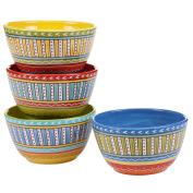 Certified International Valencia Ice Cream Bowls (Set of 4), 15cm , Multicolor