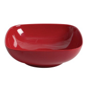 Excellanté Royal Red Collection 28cm by 28cm Square Bowl, 8.3cm Deep, 2840ml, Royal Red