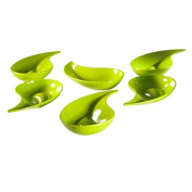 Mebel EN09-M00MV-GRE Small Teardrop Shape Green Bowl for Snacks or Appetisers 6 Pieces Per Pack