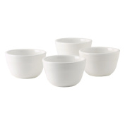 Tuxton Home Concentrix Bouillon Bowl (Set of 4), 210ml, White; Restaurant Grade Nonporous Virtrified China; Thermal Shock Tested