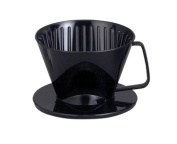 HIC Coffee Filter Cone, Black, Number 1-Size, Brews 1 to 2-Cups