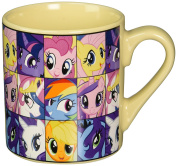 Silver Buffalo MLP6132 My Little Pony Heads Ceramic Mug, 410ml, Yellow