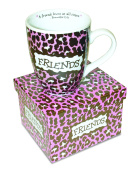 Divinity Boutique Inspirational Ceramic Mug - Friends Leopard, Proverbs 17:17, A Friend Loves at All Times, , Multicolor