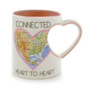 Our Name is Mud by Lorrie Veasey Connected Heart Map Mug, 10cm , Multicolor