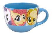 Silver Buffalo MLP6124 My Little Pony Grid Ceramic Soup/Cereal Mug, 710ml, Blue