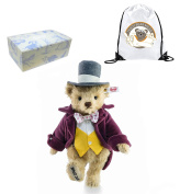 Highest Quality Authentic Collectors Limited Edition Steiff Willy Wonka by Roald Dahl 28 cm and Reusable Gift Bag - Classic Style - Boy Boys Girl Girls Kids Children Child Bed Time Buddy Gift Present Idea - Suitable From 3+