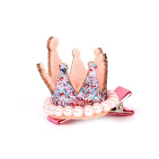 KINGSTONS Crown-Shape Alligator Clip Hair Barrette Clip Hairpin for Party Gift