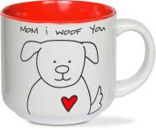 Pavilion Gift Company 37134 Blobby Dog-Mom I Woof You Ceramic Coffee Mug, Red