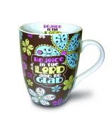 Divinity Boutique Inspirational Ceramic Mug - Paisley Flowers with Scripture, , Multicolor