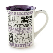 Enesco 4054510 Our Name Is Mud Hairstylist Occupation Mug, 11cm , Purple