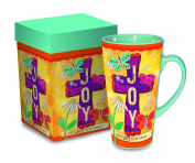 Divinity Boutique Inspirational Stoneware Mug, Joy, Multicolor