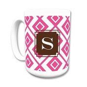 Dabney Lee Lucy Mug with Single Initial, S, Multicoloured