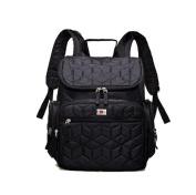 EGOGO Black Multifunctional Mummy Bag Nappy Changing Bag Baby Bag Rucksack Nappy Bag