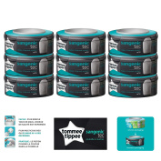 Tommee Tippee - Sangenic Refill Cassettes for Nappy Bins Pack Of 9 - Tec