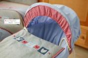 New Lollipop Lane Hugs & Kisses Moses Basket Bedding Set Cover, Hood & Quilt