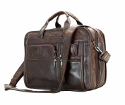 Jsix Mens Genuine Leather Handbags Briefcases Laptop Shoulder Bag
