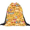 Bluelans® Unisex Emoji Backpack 3D Printing Bag Drawstring Backpack School Bag Swim Bag